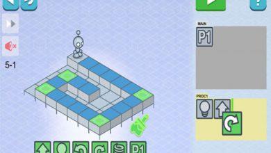 تصویر از ارتباط بازی Lightbot با برنامه نویسی