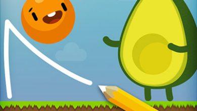تصویر از دانلود بازی where's my avocado? Draw lines