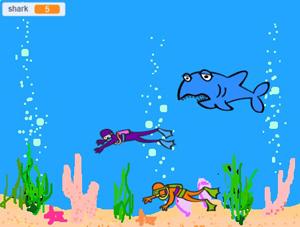 پروژه دانش آموزی اسکرچ shark